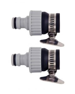 Faucet Water Pipe Dual Tap Connector Female Adapter Garden Water Hose Quick Connector 1/2 & 3/4 inch for Garden Hose Pipe Fitting Pack 2