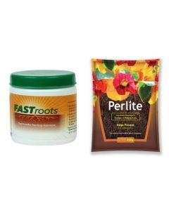 Horticultural Perlite 450 Gram & Fast Root Rooting Hormone Powder 50 Gram Combo Pack 2