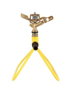 360 Degree Rotating Automatic Garden Brass Sprinkler with Stand Heavy Duty Brass Impact Head Sprinkler