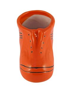 Orange Shoes Shaped Handmade Ceramic Pot
