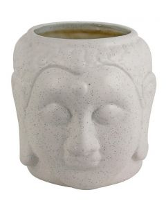 White Ceramic Buddha Shape Flower Ceramic Pot
