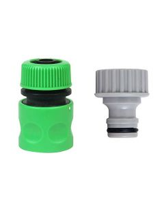 Hose Connector 3/4 Inch & Tap Connector 3/4 Inch for Quick Hose Fitting Pack of 2