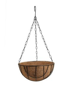 Hanging Flower Basket with Coco Peat Liners Metal Iron Chain (14 Inch)