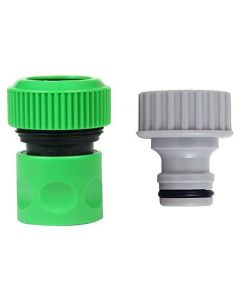 3/4 Inch Hose & 1/2 Inch Tap Connector for Quick Tap/Hose Fitting for Garden Pack 2