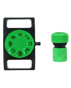 8 Pattern Plastic Water Sprinkler with 3/4 inch Hose Connector